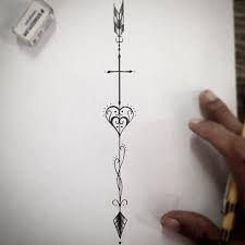Resultado de imagem para tatuagens de flechas costela