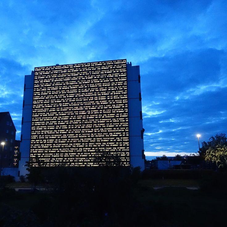 Drømmegavlen Offentlig udsmykning 2015 Gadekærvej, Valby, København