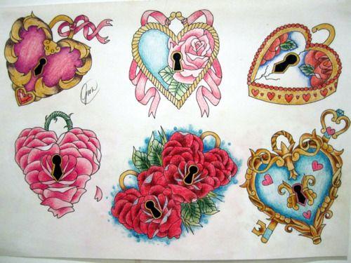 heart lockets for foot tattoo ideas