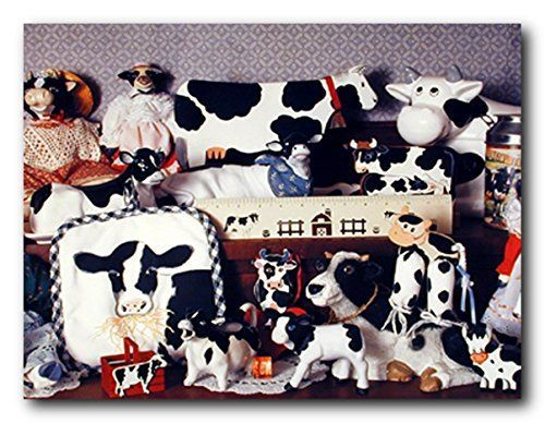 Simply Perfect! This wonderful cow toys collection art print poster is sure to add a unique style to your room setting and goes with all décor style. This poster depicts the image of Holstein cow toys collection give wings to your child a Disney fantasies and a fun way to brighten up their space and imagination. Get up and buy this poster for its excellent quality with perfect color accuracy.