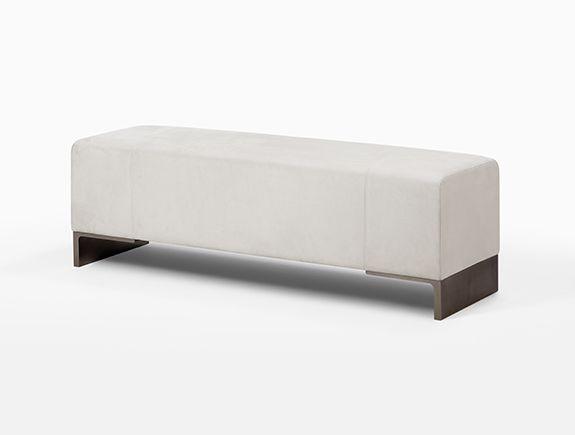 Arakan bench by holly hunt bench ottoman stool for Master bathroom ottoman