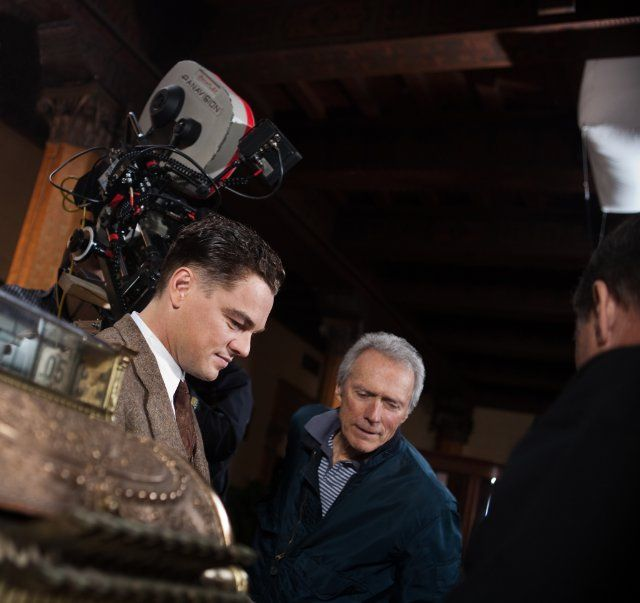 Still of Leonardo DiCaprio and Clint Eastwood in J. Edgar (2011)