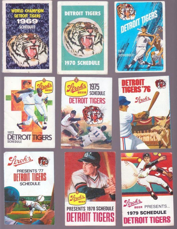 12 CT 1969-1980 DETROIT TIGERS POCKET SCHEDULE LOT STROH'S PABST DETROIT PRESS