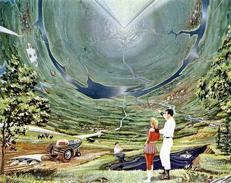 "Disney (Mars & Beyond) da IL RAMO D'ORO ""Space Colony Art"" https://ilramodoro-katyasanna.blogspot.it/2014/04/space-colony-art.html"
