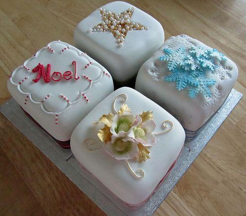 Small Christmas Cake Tins