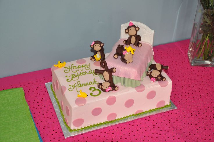 5 Little Monkeys Jumping On The Bed Cake Google Search