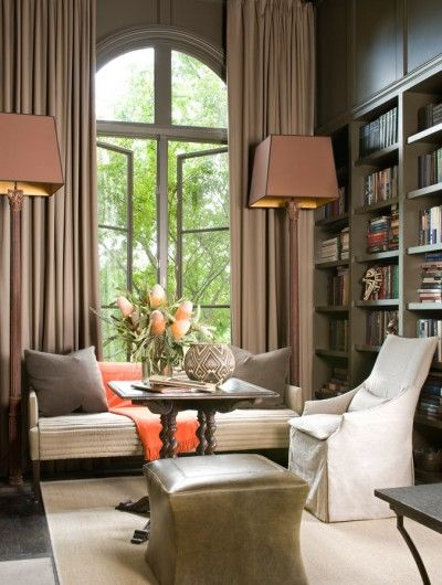 McAlpine Booth & Ferrier Interiors/fabulous treatment on arched window and french door
