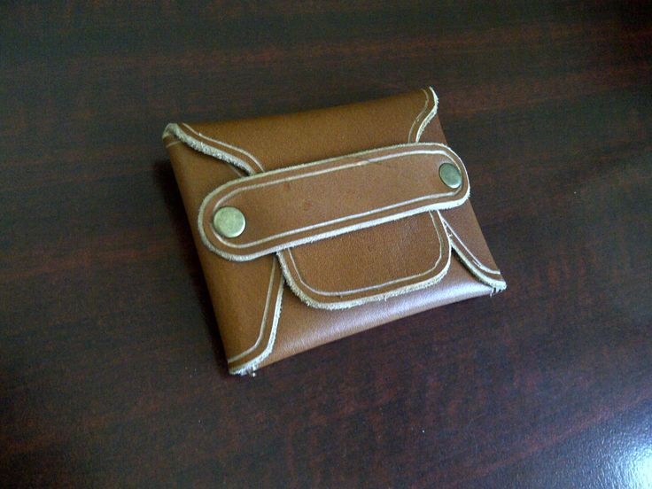 I made this myself ,totally green ,handmade beach wallet