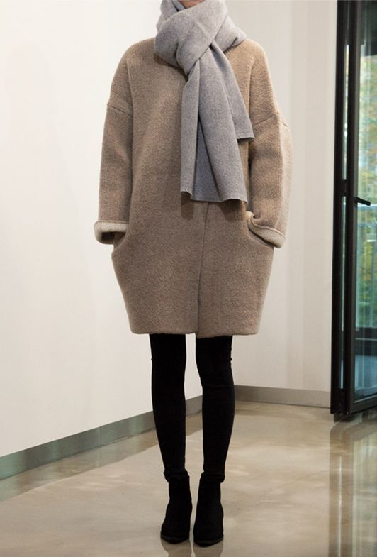 mahabis style // cocoon coat and neutral layers to combat the cold
