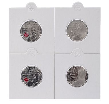 "2012 ""Oh Canada"" Set with Scarce Type 1 $1 and $2, plus four War of 1812 Quarters -- for Tim & Karli's baby 2."