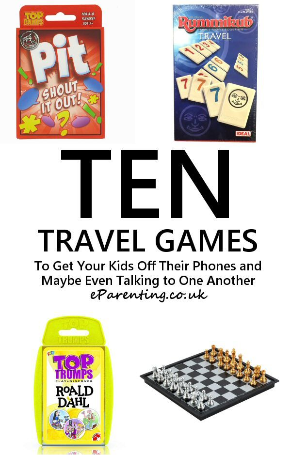 Ten Travel Games to Get Your Kids Off Their Phones and Maybe Even Talking to One Another. #travelgames #arewenearlythereyet