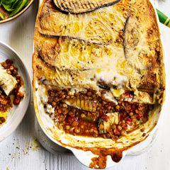 Sweet potato and aubergine moussaka - Sainsbury's Magazine