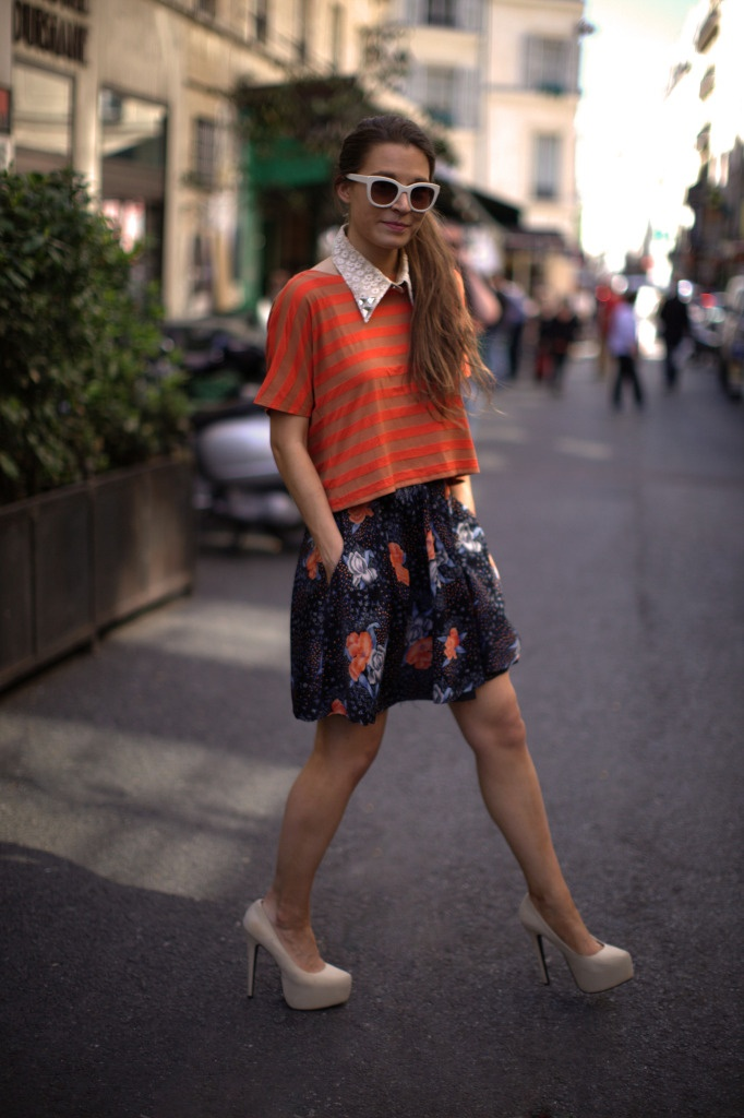 pattern play: Side Ponytail, Streetstyl