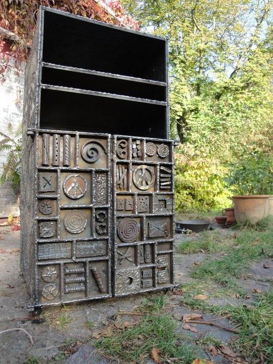 A Tribute to Paul Evans- Hi-fi cupboard    #hi-fi, #design, #metal, #art