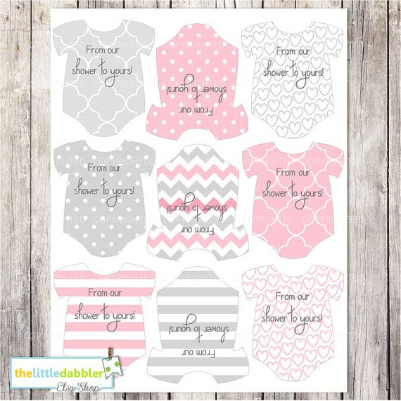 51 best baby shower ideas images on pinterest girl baby glam pink mini baby shower onesie tags paris baby shower one piece thank you favor gift tags mini onesie place setting printable pdf negle Image collections