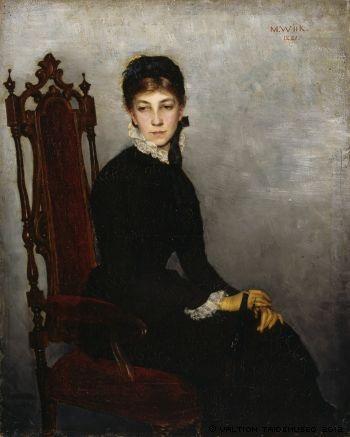 Wiik, Maria  Portrait of Hilda Wiik, 1881