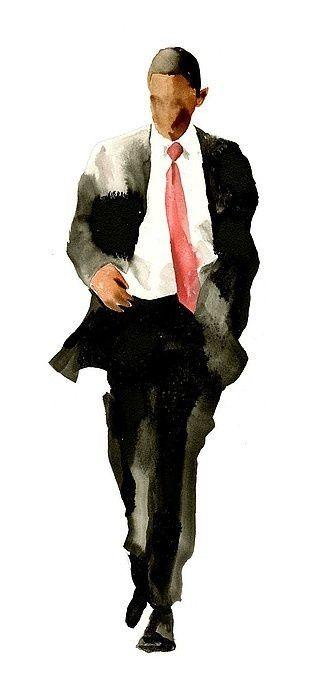ObamaPainting With Watercolors, Presidents Obama, Barackobama, Black Artists, Presidents Barack, David Choe, Watercolors Painting Of People, Watercolors Obama, Barack Obama