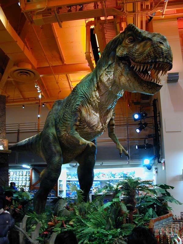 Toys Are Us Search : The animatronic dinosaur in toys r us times square http