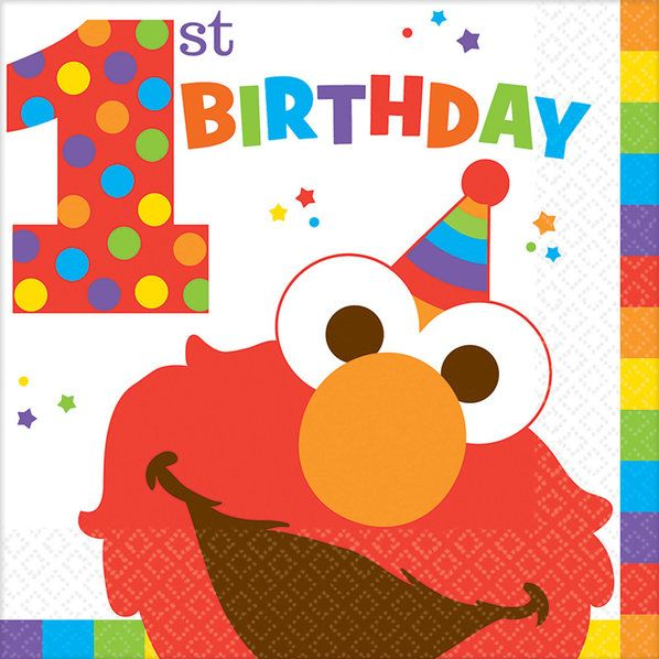 Check out Elmo Turns One Luncheon Napkins | Elmo's 1st Birthday party supplies from Birthday in a Box from Birthday In A Box