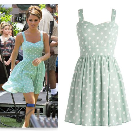 Mint polka dot dress as seen on Maria Menounos.