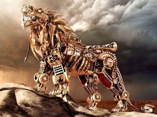 Steampunk Lion, wow!