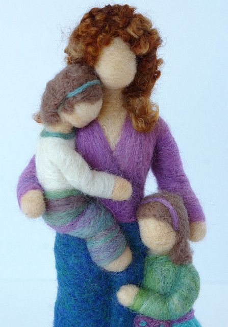 "Felted wool sculpture by Beneath the Rowan Tree...is this just the sweetest thing?  Available on Etsy from ""Beneath the Rowan Tree""!!!!"