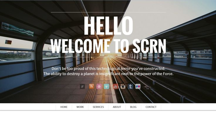 Responsive one page and single page portfolio - SCRN