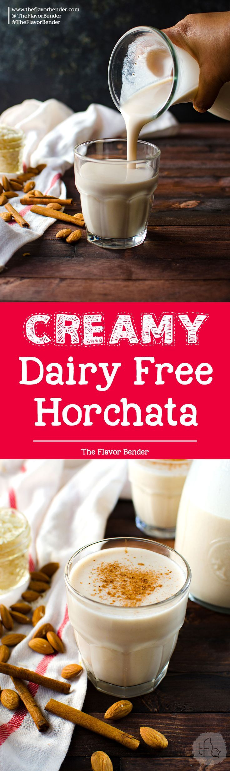 Dairy Free Mexican Horchata - a creamy and refreshing spiced drink with wonderful spices! This is an easy recipe to make Mexican Horchata, with flavor twists that you can try at home! via @theflavorbender