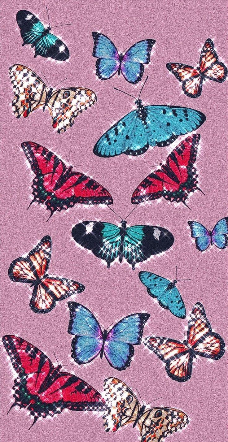 Pink Aesthetic Butterfly Wallpaper