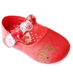 Sepatu Bayi Moo - Lembut Sole Balita Baby Girl Princess Kelinci gaun Rose Red Ukuran Sepatu: kami 1-4 untuk 3-18 Bulan Xyzu | Pusat Sepatu Bayi Terbesar dan Terlengkap Se indonesia