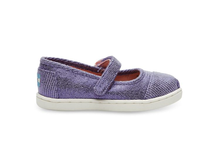 Lilac Lilac Metallic Tiny TOMS Mary Janes