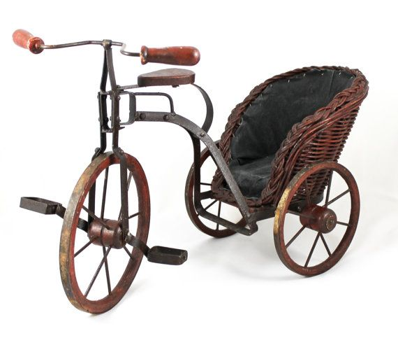 Makers Of Antique Tricycles : Antique vintage tricycle hand made metal toy bicycle bike