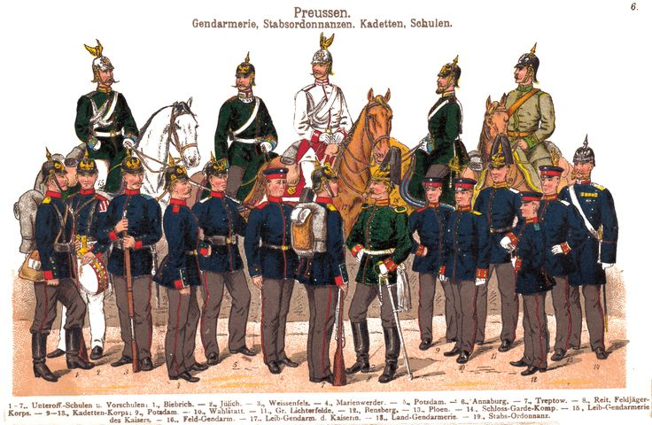 German Police and military cadets 1900-1908 | Uniforms and ...
