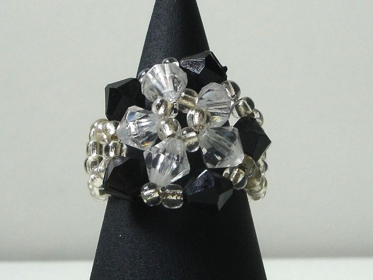 Black white ring