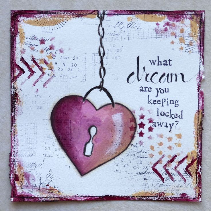 What #dreams are you keeping locked away? #artjournaling