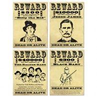 Western Reward Signs (4pk) $14.50 BE54183