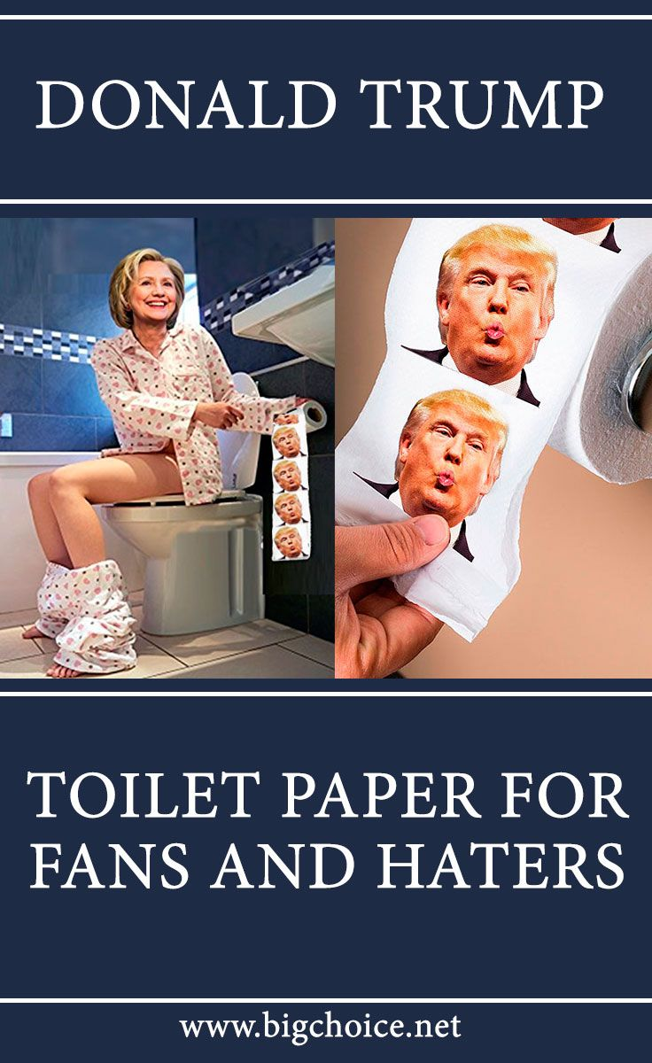 Funny color toilet paper with the picture of Donald Trump on it. It's a really good thing to decorate your party or to make your guests smile.  #trump #donaldtrump #humor #bigchoice #shop #usa