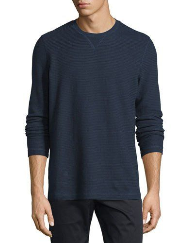Vince+Racking+Thermal+Stitch+Long+Sleeve+Shirt+Coastal+|+Top+and+Clothing