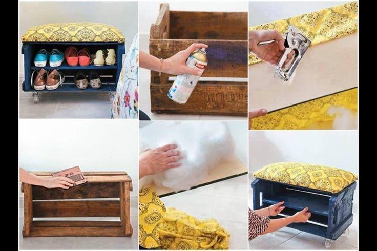 10 besten schuhregal bilder auf pinterest schuhregal diy m bel und diy schuhregal. Black Bedroom Furniture Sets. Home Design Ideas