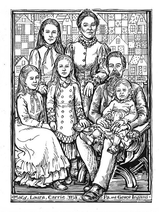 Laura Ingalls Wilder Coloring Pages Download Laura Ingalls
