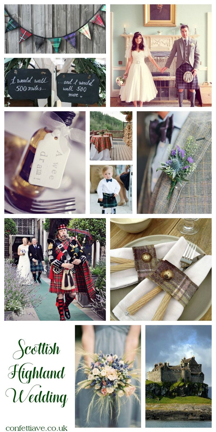 Scottish Highland Wedding | Mood Board http://confettiave.co.uk/scottish-highland-wedding