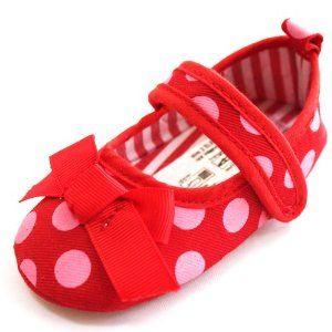 Pola Sepatu Bayi - Lembut Sole Balita Bayi Perempuan Kupu-kupu Bow Princess Sandals Polka Dot Reds Sepatu Lsdd | Pusat Sepatu Bayi Terbesar dan Terlengkap Se indonesia http://pusatsepatubayi.blogspot.com/2013/07/pola-sepatu-bayi-lembut-sole-balita.html