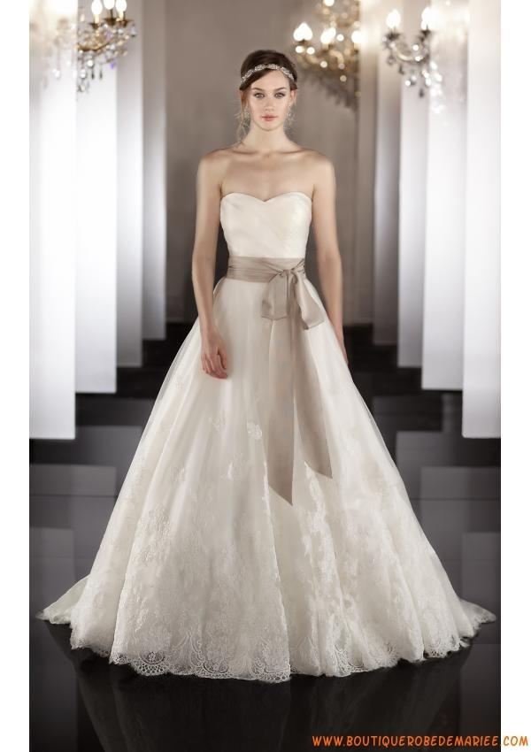 robe de mari e princesse tulle dentelle avec ceinture