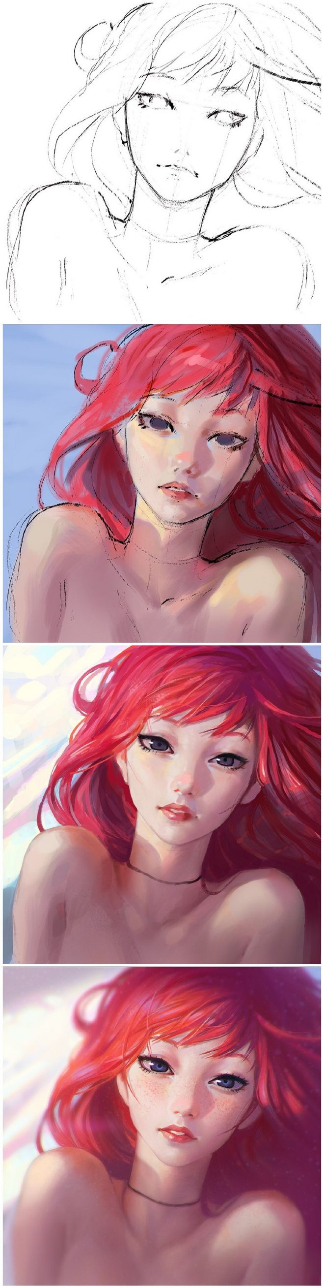 Kuvshinov IlyaGorgeous woman with red hair anime artLearn more about Wacom graphics tablets, go to Wacomtabletreviews.net