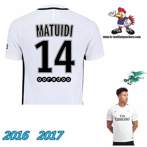 France Ligue 1: Maillot De Foot Homme PSG (MATUIDI 14) Third 2016-17 Personnalisé Discount