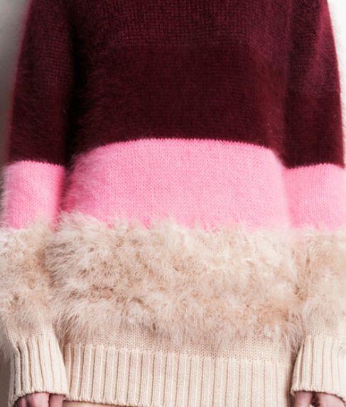 VERONIQUE BRANQUINHOのハイブリットカラーブロックセーター