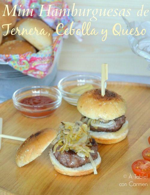 Mini Hamburguesas de Ternera, Cebolla y Queso