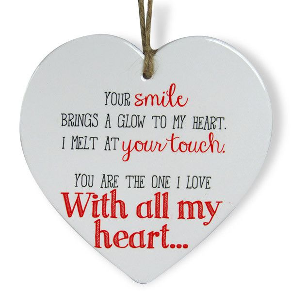 Heart Shaped Quotation For love. Your smile brings a glow to my heart. I melt at your touch. You are the one I love with all my heart… | Rs. 324 | Shop Now | https://hallmarkcards.co.in/collections/shop-all/products/buy-love-quotations
