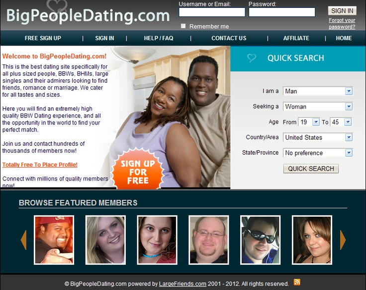 dating websites for plus size people