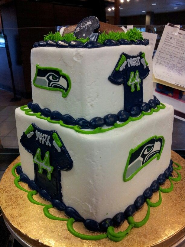Seahawk Cake Square Double Layer Jersey And Logo Nike NFL Seattle
